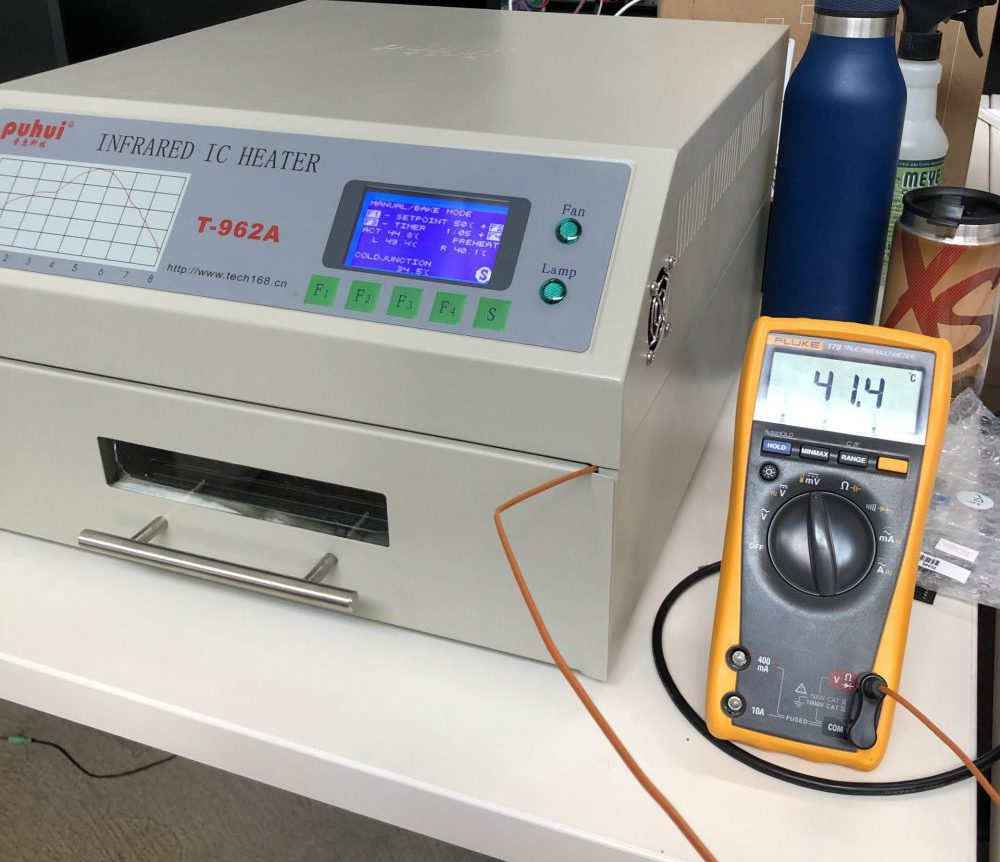 Using a fluke multi-meter to measure temperature